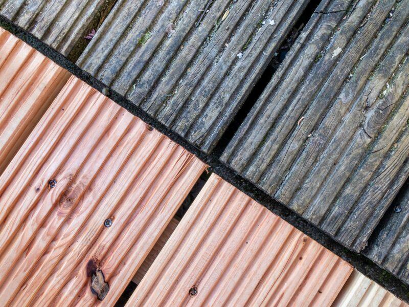 Douglas hout overkapping